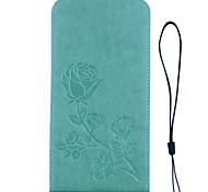 Para samsung galaxy s8 plus s8 caixa de telefone de rosas 3d em relevo padrão mão corpe estilo pu material de couro material caso para s7