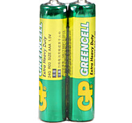 Gp vert cellule super carbone batterie rechargeable 24g r03 aa 1.5v sans mercure