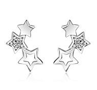 Жен. Серьги-гвоздики Стразы Мода Простой стиль Сплав В форме звезды Бижутерия Назначение Повседневные