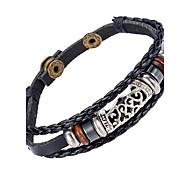 Недорогие -Муж. Кожа Кожаные браслеты - Природа / Мода нерегулярный Черный Браслеты Назначение Особые случаи / Подарок / Спорт