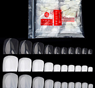 cheap -500 Pcs/pack Fake Artificial Acrylic False Toe Nails Tips Natural White Transparent Toenails Foot Manicure Beauty Nail Tool