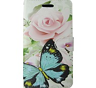 For Samsung Galaxy A5 2017 A3 2017 Case Cover Pink Rose Blue Butterfly Body Cover with Card and Booth A3 2016 A5 2016 A3 A5