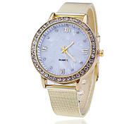 Недорогие -Жен. Нарядные часы Модные часы Японский Кварцевый сплав Группа С подвесками Повседневная Элегантные часы Золотистый