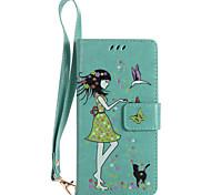 Для sony xperia xz xa ультра телефон чехол pu кожаный материал женщина и кошка шаблон светящийся корпус телефона z5