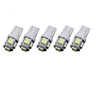 1.5W T10 5SMD 5050 DC12V Tail light Door light license plate light White Blue Red Yellow  Green 5PCS