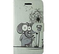 Für samsung galaxy a5 2017 a3 2017 case cover karikatur löwenzahn elefanten full body cover mit karte und stand case a3 2016 a5 2016 a3 a5