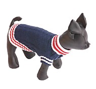 Dog Sweater Dog Clothes Silk Fabric Cotton Winter Casual/Daily Fashion Color Block Dark Blue Red Costume For Pets