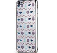 Для apple iphone7 7 плюс крышка корпуса покрытие зеркало узор задняя крышка корпус линии / волны плитка мягкая tpu 6s плюс 6 плюс 6s 6