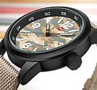 NAVIFORCE Men's Sport Military Fashion Watch Wristwatch Luxucy Casual Calendar Large Dial Nylon Band Watch Quartz  Unique Cool Watches