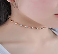 Недорогие -Жен. Прочее форма На заказ Euramerican Мода Простой стиль Ожерелья-бархатки Кристалл Стразы Стразы Ожерелья-бархатки На каждый день