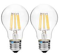 Недорогие -8W E27 LED лампы накаливания A60(A19) 8 COB 600 lm Тёплый белый Белый 3000-3500   6000-6500 К V