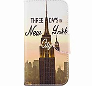 For Samsung Galaxy A3(2017) A5(2017) Card Holder Wallet with Stand Flip Pattern Case Full Body Case Eiffel Tower Hard PU Leather