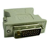 DVI Адаптер, DVI to VGA Адаптер Male - Female 720p Никелированная сталь