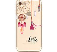 Недорогие -Для яблока iphone 7 7 плюс 6s 6 плюс чехол для крышки ветер куранты шаблон окрашены высокий уровень проникновения tpu материал мягкий