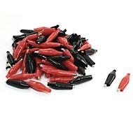 Недорогие -50 шт. Пластиковый чехол для тестирования аллигатора (25 красных 25 черных)