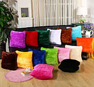 cheap -1 pcs Velvet Pillow Case Pillow Cover, Solid Novelty Casual Euro Traditional/Classic Retro Modern/Contemporary