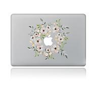 Недорогие -1 ед. Наклейки для Защита от царапин Цветочный принт Узор PVC MacBook Pro 15'' with Retina MacBook Pro 15 '' MacBook Pro 13'' with Retina