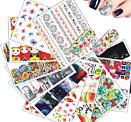 cheap -1pcs Water Transfer Decals Nail Stamping Template Daily Fashion High Quality