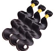 Cabello humano Cabello Hindú Tejidos Humanos Cabello Ondulado Grande Extensiones de cabello 1 Pieza Negro Azabache