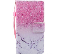For Samsung Galaxy A3 A5 (2017) Case Cover Marble Pink Sand Pattern Painted PU Skin Material Card Stent Wallet Phone Case