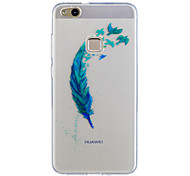 For Huawei P10 Lite P10 Case Cover Feathers Pattern Painted High Penetration TPU Material IMD Process Soft Case Phone Case