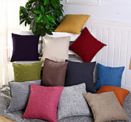 cheap -1 pcs Cotton/Linen Pillow Case Pillow Cover, Solid Novelty Casual Traditional/Classic