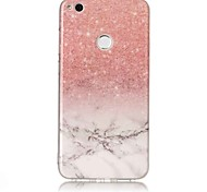 cheap -Case For Huawei P9 Lite Huawei Huawei P8 Lite IMD Back Cover Marble Soft TPU for P10 Plus P10 Lite Huawei P9 Lite P8 Lite (2017) Huawei