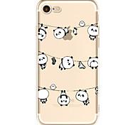 Pour Apple iphone 7 7 plus 6s 6 plus couverture de boîtier panda pattern peint haute pénétration tpu matériel étui souple cas de téléphone