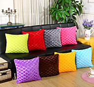 cheap -1 pcs Velvet Pillow Case Pillow Cover, Solid Striped Geometric Novelty Casual Euro Traditional/Classic Retro Modern/Contemporary