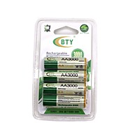 Bty Battery  High Quality Aa3000 Rechargeable Battery Ni-Mh Battery 3000Mah