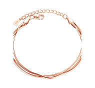 cheap -Women's Chain Bracelet Fashion Sterling Silver Line Jewelry Christmas Gifts Party Special Occasion Gift Costume Jewelry Gold Silver