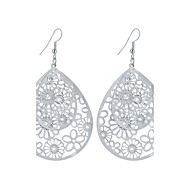 cheap -New Fashion Popular Charm Plated Gold/Silver Hollow Flower Water Drop Earrings For Women Dangle Long Earrings Jewelry Bijouterie