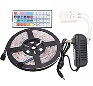 Led Strip Lights Kit  Waterproof 5050 5M 150leds RGB 30leds/m with 44key Ir Controller and 3A Power Supply