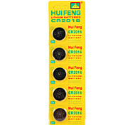 cheap -HUI FENG CR2016 Button Battery 3V 5pcs