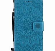 cheap -For Sony Xperia XZ XA Sunflowers Embossed PU Phone Case for M4 M2 Z5  Z4 mini XA Ultra X Xperformance E5 M5