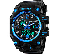 cheap -SKMEI Men's Digital Digital Watch Sport Watch Alarm Calendar / date / day Silicone Band Cool Black