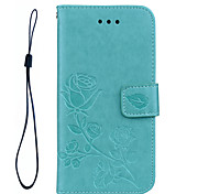 FOR Samsung Galaxy A5(2017) A3(2017) Phone Case Roses 3D Embossed Pattern Hand Rope Style PU Leather Material Phone Case