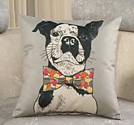 1 Pcs Creative Gentleman's Dog Printing Pillow Cover Personality Design Cotton/Linen Pillow Case