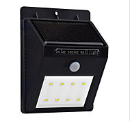 cheap -0.5W LED Solar Lights Waterproof Human Body Sensor Wall Outdoor Lighting Cold White