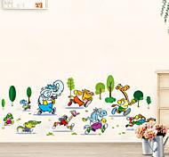New Design Animals Running Wall Sticker The Vinyl Diy Wall Sticker Mural Home Decor Kids Room Decals Home Decoration