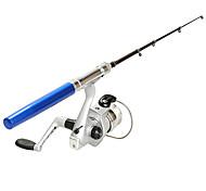 cheap -Aluminum Alloy Ice Fishing Rod Fibre Glass 100 cm Ice Fishing 5 sections Rod & Reel Combos Fast (F) Medium (M)