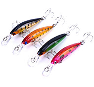 4pcs Lots Minnow Fishing Lures 7cm 4g Crankbaits Hard Bait Fish Wobblers 4Colors Tackle Pesca