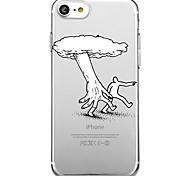 Для iphone 7 плюс 7 чехол для крышки экологически чистый мультфильм прозрачный узор задняя крышка корпуса линии / волны мультфильм мягкий