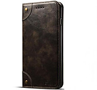 Case for Apple IPhone 7  7 Plus  Cover Card Holder Wallet with Stand Flip Magnetic Full Body Case Solid Color Hard PU Leather for Apple 6S/6S PLUS