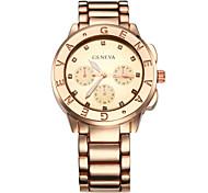 Недорогие -Жен. Модные часы Кварцевый сплав Группа Серебристый металл Золотистый Розовое золото