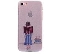 Para apple iphone 7 7plus caso cove leitura menina padrão flash em pó processo imd tpu material telefone caso iphone 6 6s plus se 5s 5