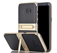 For Samsung Galaxy S8 Edge S7 Edge Case Cover The with Stand TPU with Plastic Frame for S6 Edge Plus