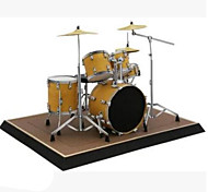cheap -3D Puzzles Paper Model Paper Craft Model Building Kit Square Musical Instruments Drum Set 3D Simulation Furnishing Articles DIY Hard Card