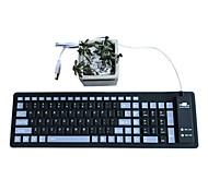 Waterproof Fold  Mute Silica Gel 103 Keys  OTG USB Keyboard