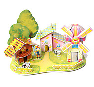 cheap -3D Puzzles House Architecture DIY High Quality Paper Classic Unisex Gift